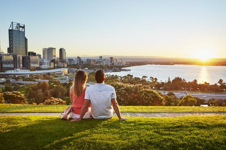 Couple In Kings Park In Perth © Tourism Western Australia