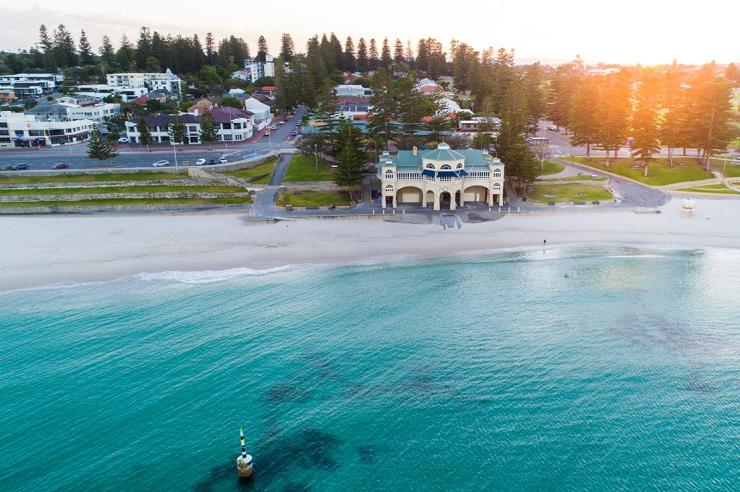 Aerial View Of Cottesloe Beach In Perth © Tourism Australia