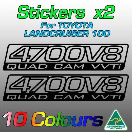 4700V8 stickers for UZJ100 Land Cruiser