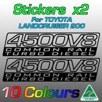 4500V8 Twin Turbo Intercooler stickers for VDJ200