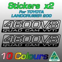 4700V8 Quad Cam VVTi stickers for URJ200