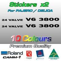 24 VALVE V6 3800 stickers for Pajero and Delica