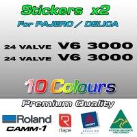 24 VALVE V6 3000 stickers for Pajero and Delica