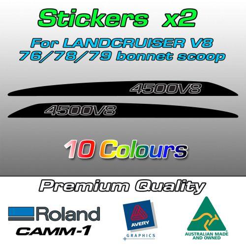 4500V8 bonnet scoop stickers for LandCruiser 70