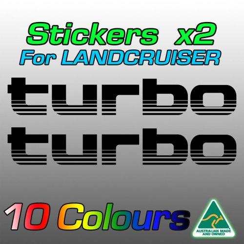 turbo stickers for Toyota LandCruiser HDJ100