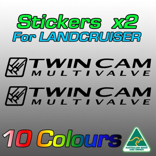 Twin Cam Multivalve stickers for Land Cruiser