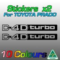 Prado D4D turbo sticker