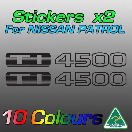 Nissan Patrol TI4500 stickers