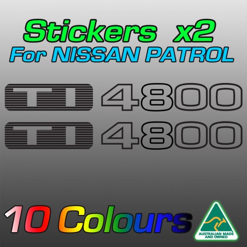 TI4800 stickers for the TB48 Nissan patrol
