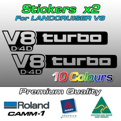 V8 D4D turbo stickers for Landcruiser 70