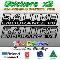 5.6 LITRE ENDURANCE V8 stickers for Y62 patrol