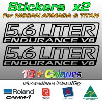 5.6 LITER ENDURANCE V8 stickers for Armada and Titan