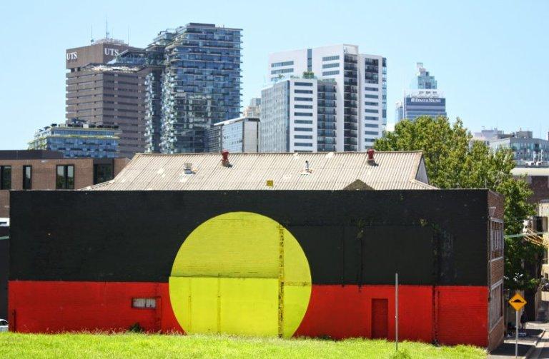 Аборигенский флаг в Редферне