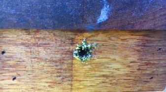 native bee hive ventilation hole
