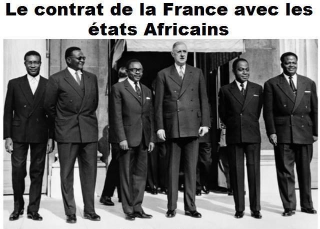 Le contrat de la France avec les États africains