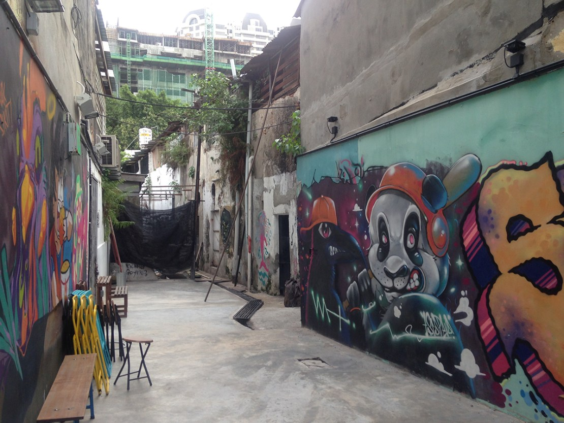 Street art in Georgetown, Penang, Malaysia - photo by Hannah Cackett (Authentic Gems Travel)