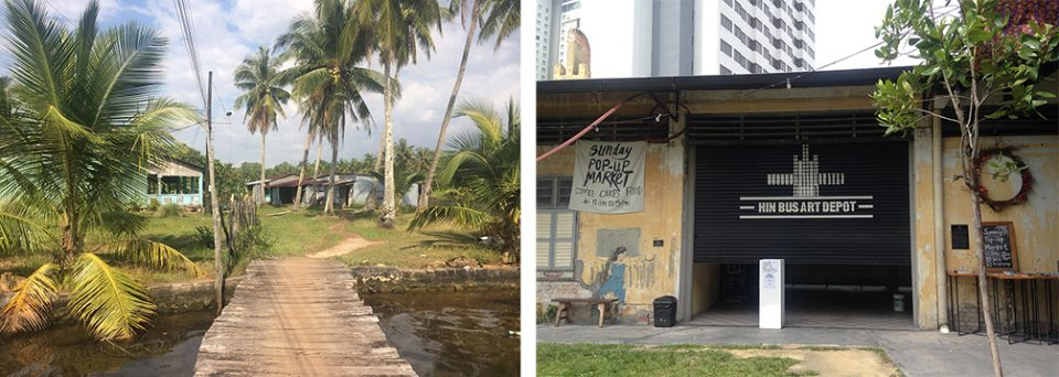 A fishing village in Phu Quoc, Vietnam & Hin bus depot art gallery in Penang, Malaysia