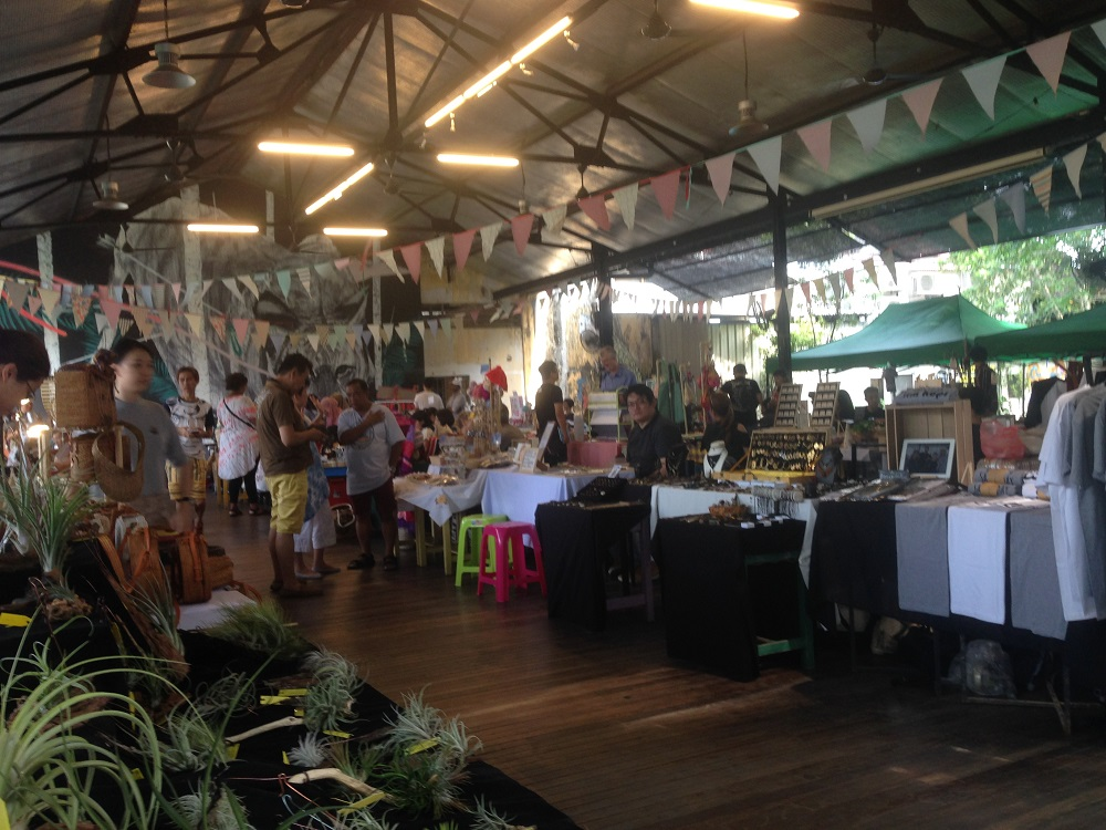 Photo from the Sunday Pop Up market at Hin Bus Depot in Georgetown, Penang, Malaysia - by Hannah Cackett (Authentic Gems Travel)