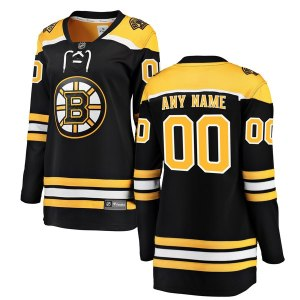 Women's Boston Bruins Fanatics Branded Black Home Breakaway Custom Jersey