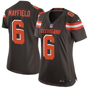Women's Cleveland Browns Baker Mayfield Nike Brown Game Jersey