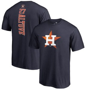 Men's Houston Astros Jose Altuve Fanatics Branded Navy Backer Name & Number T-Shirt