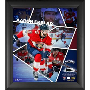 Florida Panthers Aaron Ekblad Fanatics Authentic Framed 15'' x 17'' Impact Player Collage with a Piece of Game-Used Puck - Limited Edition of 500