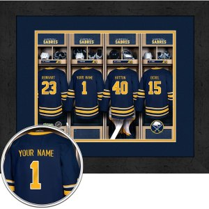 Buffalo Sabres Locker Room Framed Print