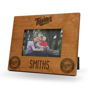 Minnesota Twins Sparo Brown 9.75'' x 7.75'' Personalized Wood Picture Frame