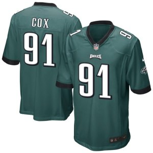Mens Philadelphia Eagles Fletcher Cox Nike Midnight Green Team Game Jersey