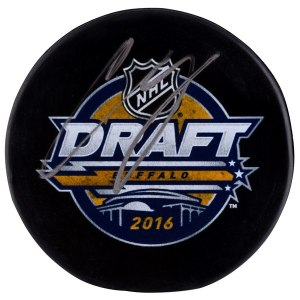 Autographed Boston Bruins Charlie McAvoy Fanatics Authentic 2016 NHL Draft Logo Puck