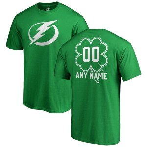 Men's Tampa Bay Lightning Fanatics Branded Kelly Green Personalized Dubliner T-Shirt
