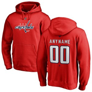 Men's Washington Capitals Fanatics Branded Red Personalized Team Authentic Pullover Hoodie