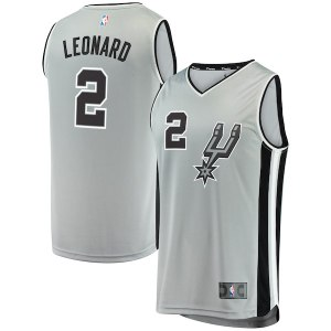 Men s San Antonio Spurs Kawhi Leonard Fanatics Branded Silver Fast Break  Replica Jersey - Statement Edition 518f15946