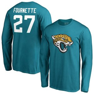 Men's Jacksonville Jaguars Leonard Fournette NFL Pro Line by Fanatics Branded Teal Player Name & Number Icon Long Sleeve T-Shirt