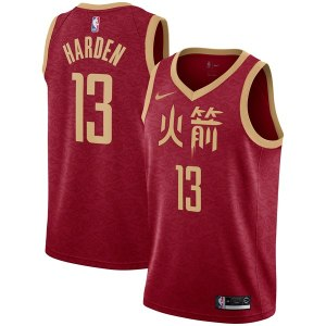 Youth Houston Rockets James Harden Nike Red 2018/19 Swingman Jersey – City Edition
