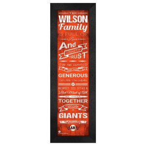 San Francisco Giants Personalized Family Cheer Framed Print