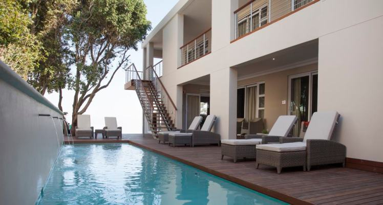 Swimming pool at Hermanus Boutique Guest House