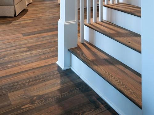 Stair Treads Flooring Accessories Reclaimed Wood And Hardwood | Hardwood Floor Stair Treads | Wooden | Hand Scraped | Redwood | Pergo Floor | Laminate Flooring