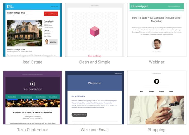 Libreria di modelli di email di ActiveCampaign