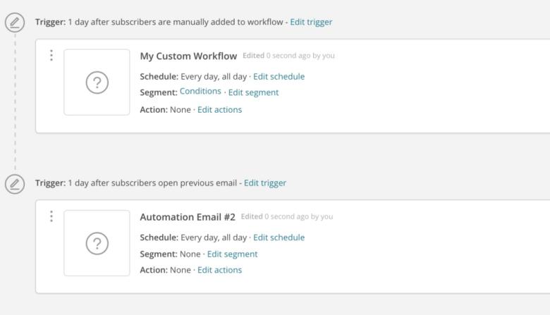 Sistema di automazione MailChimp
