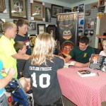 Fans throng Adam Sidwell at his Gila Valley book signing in May