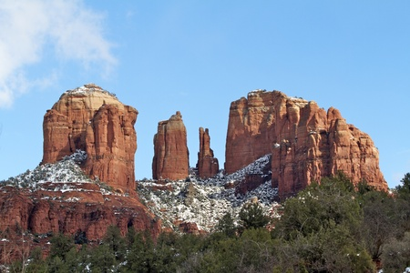 12855656 - cathedral rock and snow