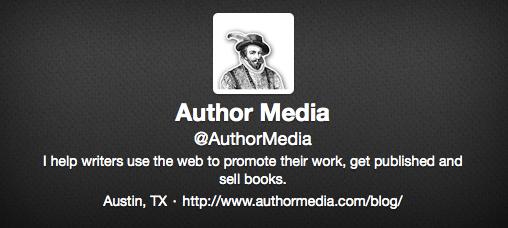 Author Media Twitter Bio Example