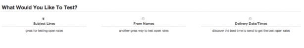 test on subject lines