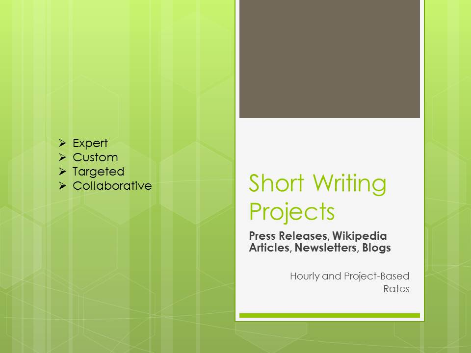 Author Planet Short Writing Projects