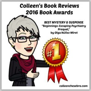 Colleen Chesbro Best Mystery or Suspense 2016 Book Award badge