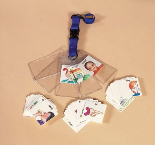 Speech Bin Special Needs Pull-Talk Communication Card Holder (5 Pockets)