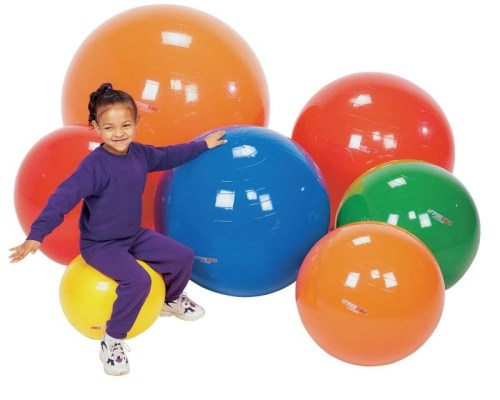 Sportime Gymnic Exercise and Play Ball (37 1/2 inch - Red)
