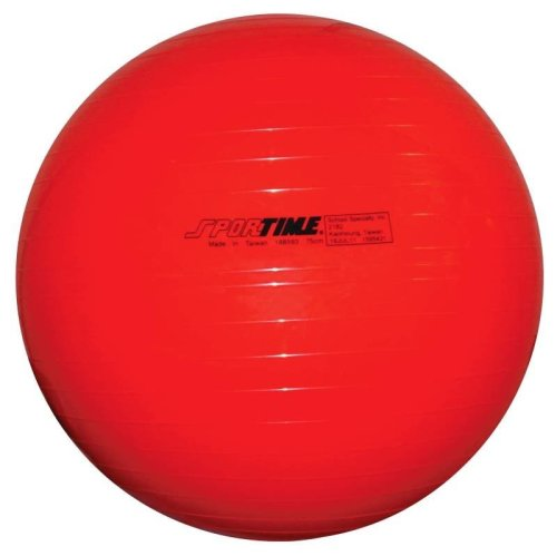 Sportime Therapy and Exercise Ball (29 1/2 inch - Red)