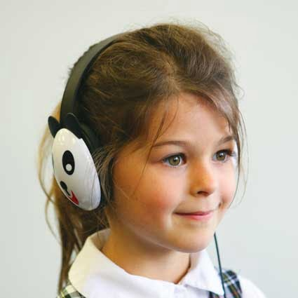 Califone Listening First Kids Wired Headphones (Panda Design)
